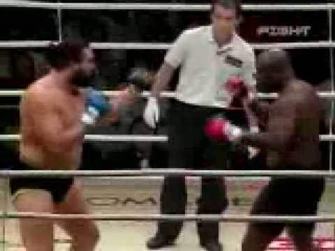 WWE Wrestler Sylvester Terkay vs Gary Goodridge MMA