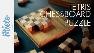 Asmr. Chessboard Puzzle. Wooden Blocks, Whisper