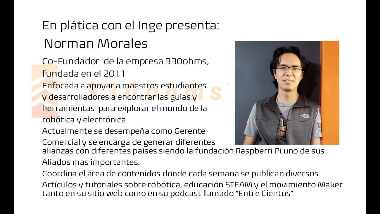 En plática con el Inge presenta: Norman Morales Co-Fundador de la empresa 330ohms.