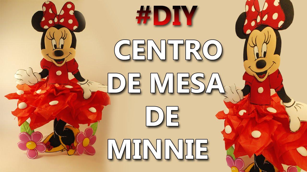 Como hacer un centro de mesa de minnie mouse - Como hacer centro de mesa ...