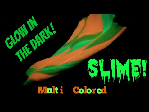 How To Make Glow In The Dark SLIME Multi Colored YouTube