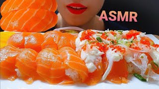 ASMR*층간소음과 함께하는 연어초밥 먹방*Salmon…