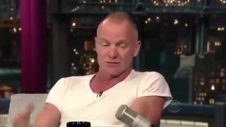 Sting David Letterman interview
