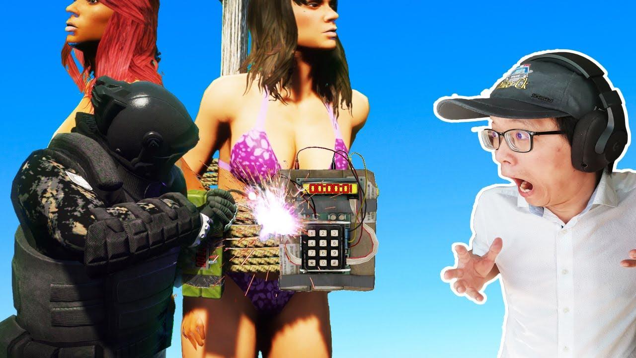 【Officer Ck】GTA5 拆弹任务被搞炸了!尽然炸死豪房的屋主!(OMG !)