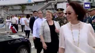 Chile President Bachelet arrives in Manila for the APEC 2015 Summit