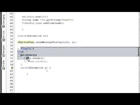 Java prog#7. Database is locked problem solution in Java Netbeans and Sqlite (mysql)