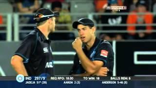 New Zealand vs India 3d ODI 2014 (Final moments)