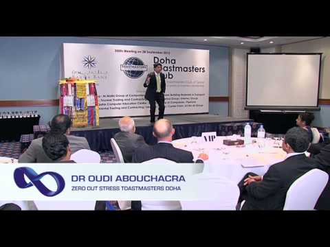 Zero Out Stress! by Dr Oudi Abouchacra at Doha Toastmasters