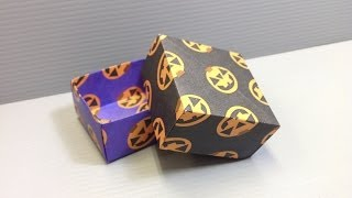 Halloween Origami Jack O Lantern Pattern Boxes - Print Your Own Paper!