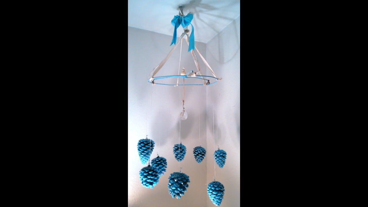 Pine cone chandelier craft art youtube arubaitofo Gallery