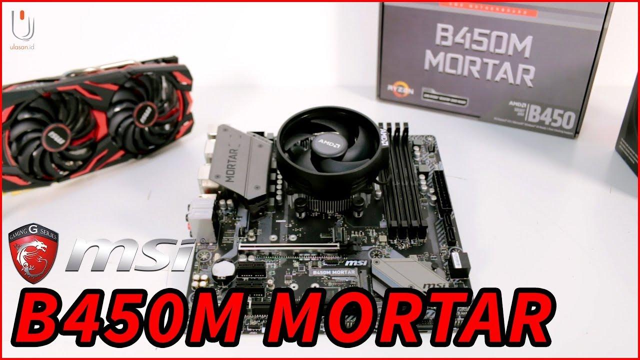 MSI B450M Mortar | Motherboard M-ATX Dengan Fitur StoreMI