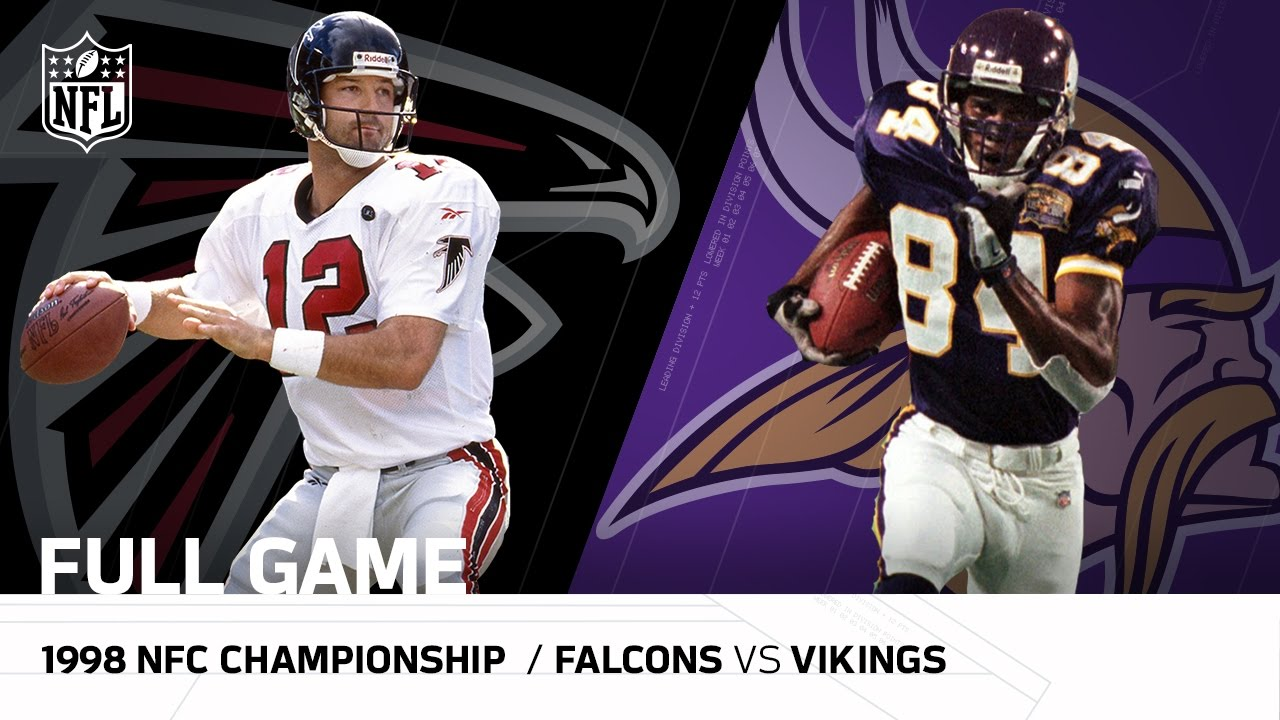 new product 23618 fba9d 1998 NFC Championship Game: Atlanta Falcons vs. Minnesota Vikings| NFL Full  Game