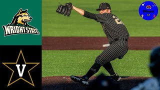 Wright State vs #3 Vanderbilt Highlights | Doubleheader Game 2 | 2021 College Baseball Highlights