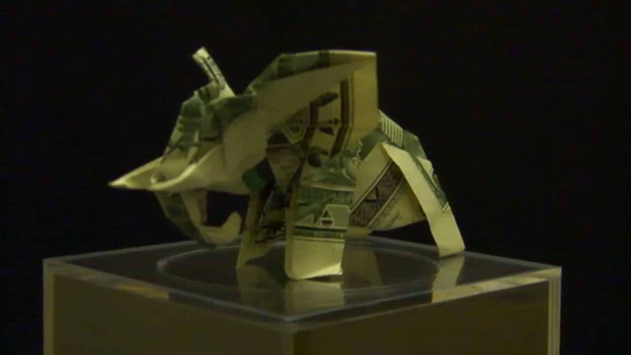 Origami Dollar Elephant By Ken Hmoob Youtube