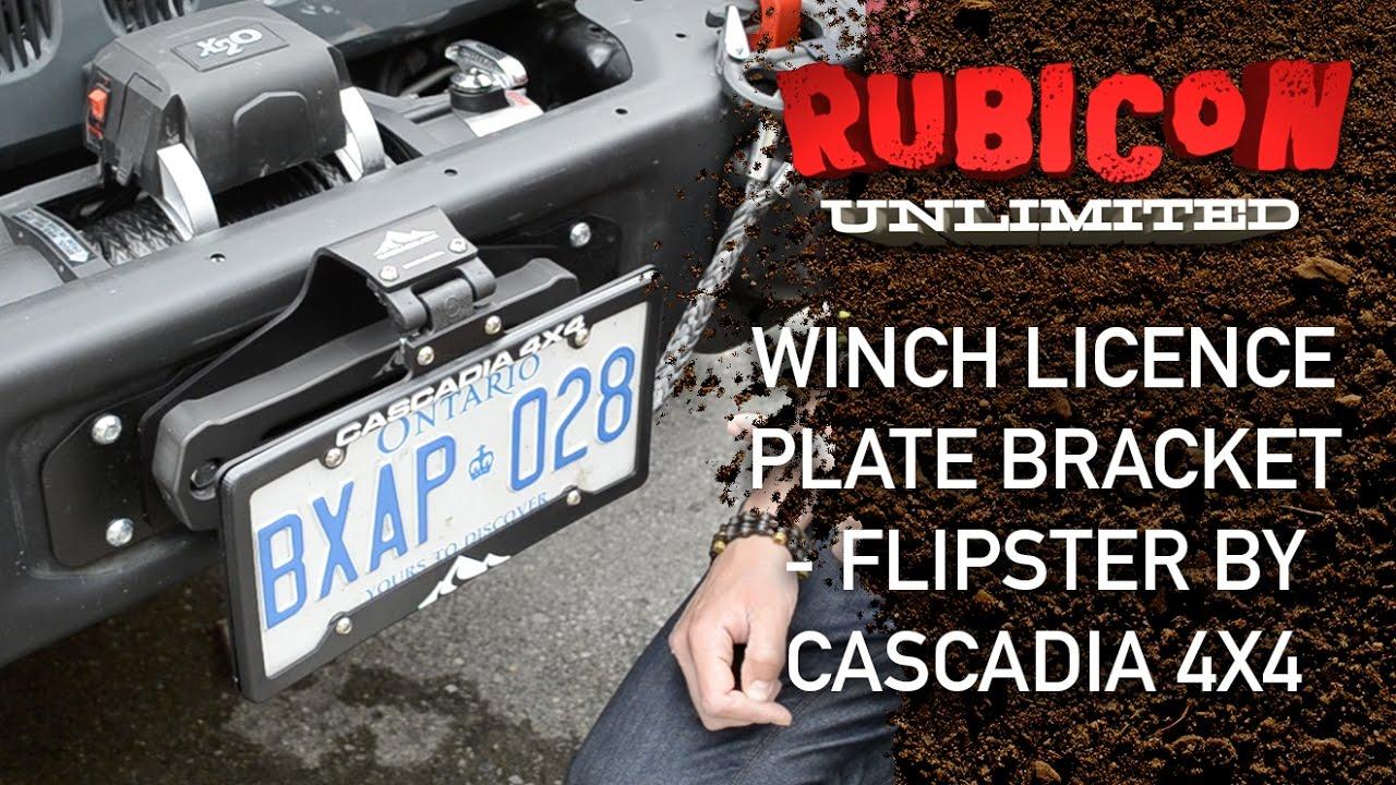 Winch Licence Plate Bracket Flipster By Cascadia 4x4