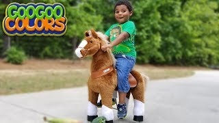GOO GOO GAGA PRETEND PLAY FEEDING HORSE! Learn Vegetable Names