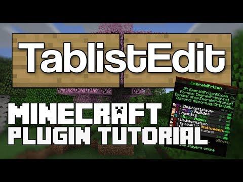 TablistEdit Plugin Tutorial Minecraft 1.12