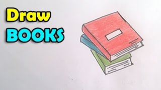 How to Draw a Book step by step for kids | Techers Day card idea