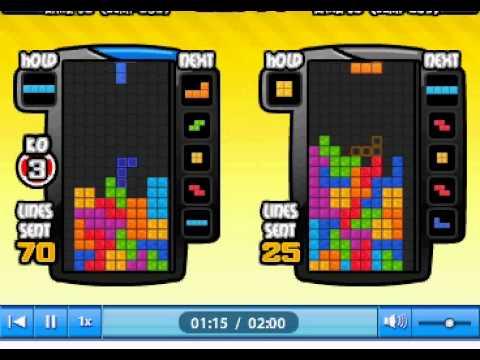 Facebook Tetris Friends Rank 51 120+ LINES [NO MAPS, NO T-SPINS, PURE  TETRISES]