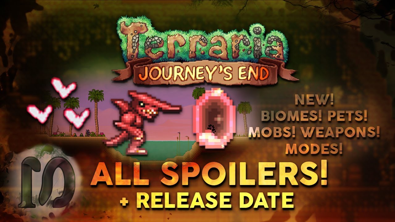 Terraria 1 4 Journey S End All Spoilers Updated 2020 New Biomes Modes Pets Weapons Part 1 Youtube