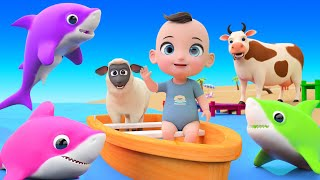 Baby Shark Finger Family  Nursery Rhymes - Best Kids Baby Songs - Children Nursery Rhymes