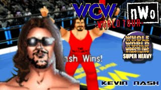 WCW vs nWo World Tour N64 Playthrough - SUPER HEAVYWEIGHT TITLE with KEVIN NASH