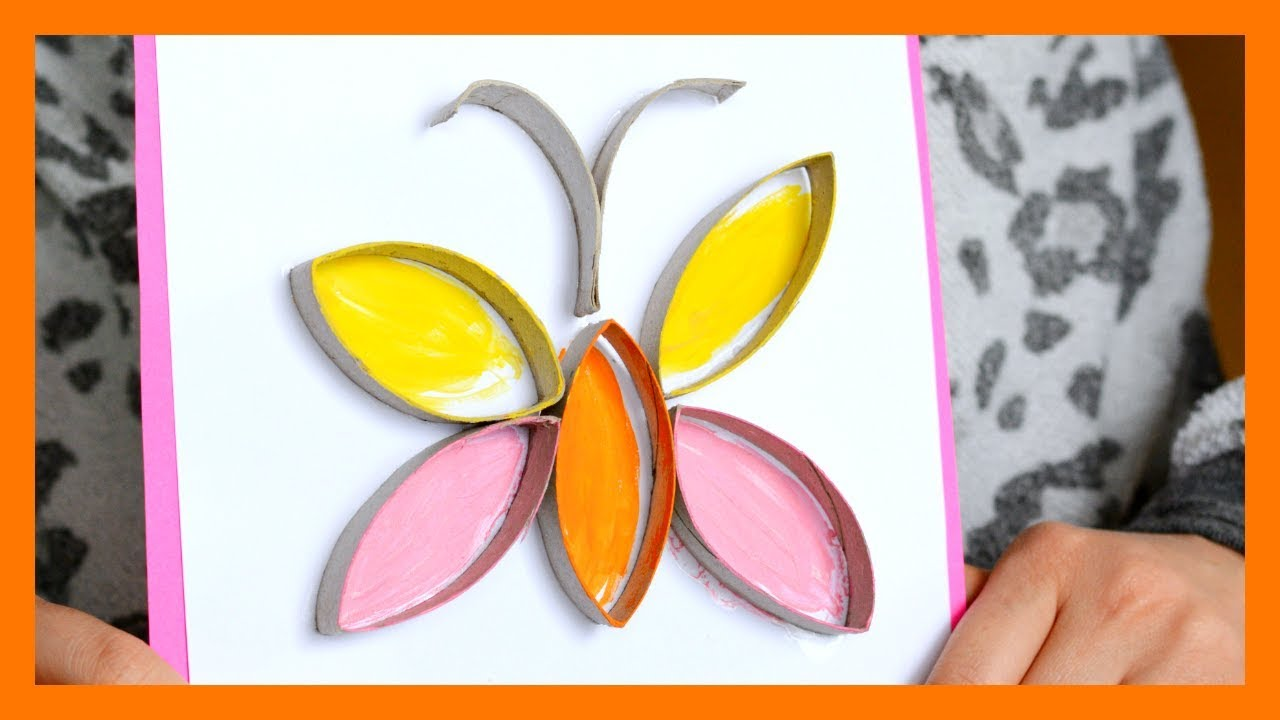 How To Make Toilet Paper Roll Butterfly Fun Spring Craft For Kids
