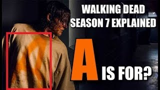 The Walking Dead Season 7 News & Explanation What Does The A Stand For? Michael Cudlitz Did What?