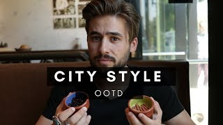 Fall OOTD + Eating CRAZY Food | City Exploring | Dapper Journal