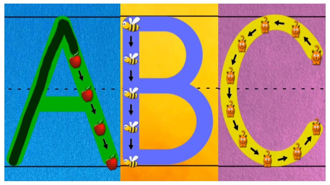 Kids Learn to Write Alphabet Letters and Numbers – Teaching Writing ABC for Children