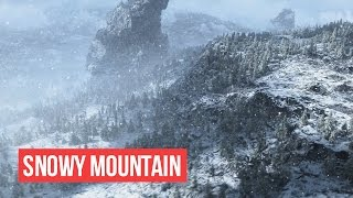 Snowy Mountain for Animation