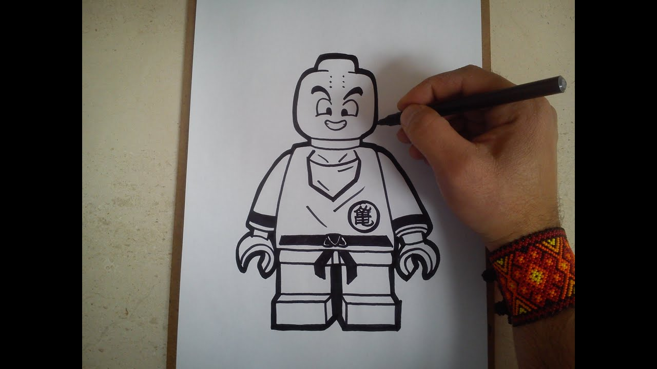 Como Dibujar A Krillyn Lego De Dragon Ball Z How To