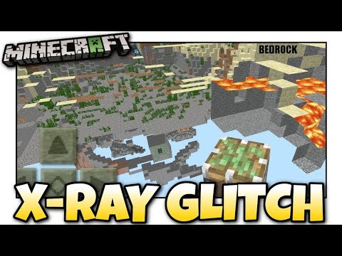 Minecraft Bedrock - X-RAY GLITCH ☠️ No Damage ☢️ Tutorial - PS4 , MCPE , Xbox , Windows & Switch