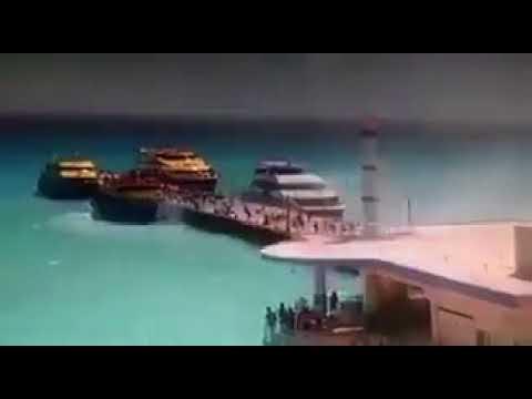 Explosión de ferry en Playa del Carmen