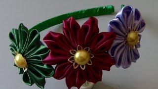 Novo modelo de Flores de Cetim Passo a Passo