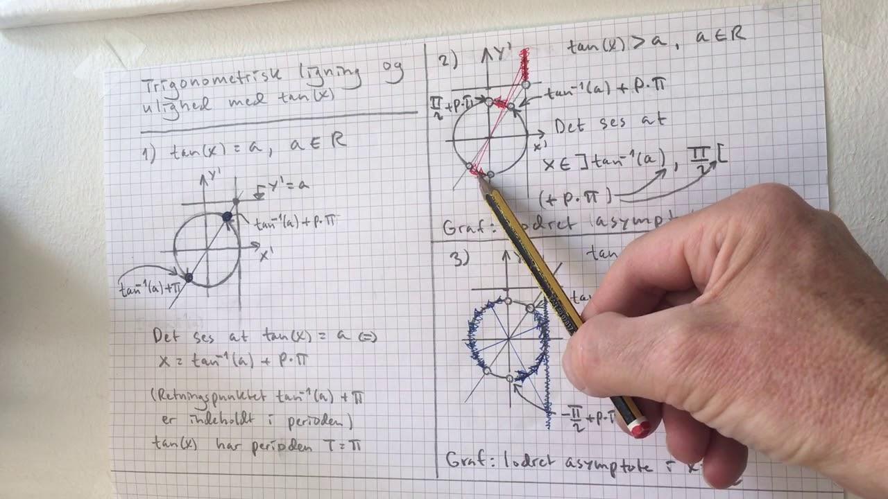 Trigonometrisk ligning og ulighed med tangens(x) - Jørgen Angelo