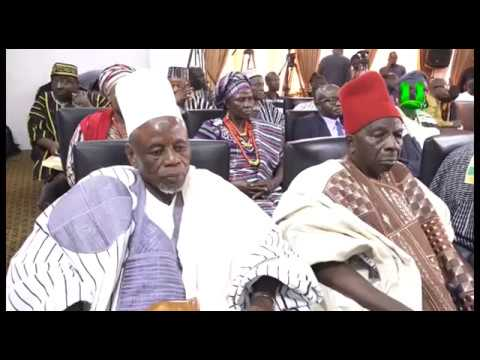 Upper West Regional House of Chiefs pay courtesy call on Prez. Akufo-Addo