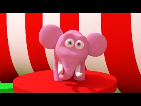 En elefant balanserade | Barnsång på svenska | Busigt Lärande