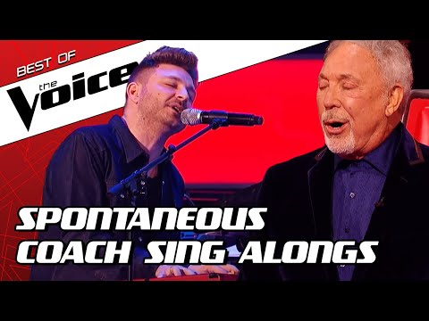 TOP 10 | SURPRISE Coach SING ALONGS during the Blind Auditions in The Voice