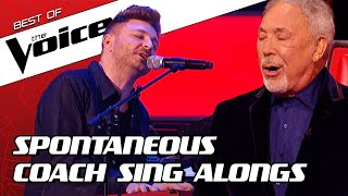 Download TOP 10 | SURPRISE Coach SING ALONGS during the Blind Auditions in The Voice Mp3 and Videos