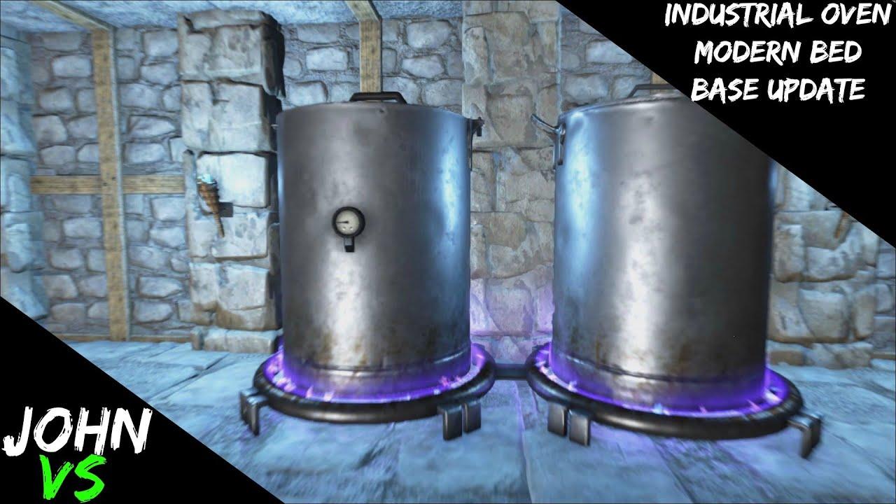 Ark Survival Evolved Industrial Oven And Modern Bed Base