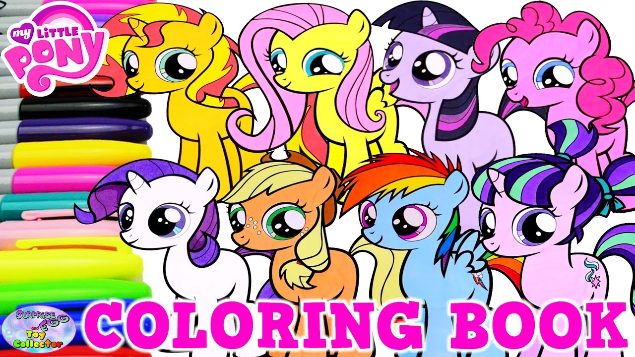 my little pony coloring book mane 6 filly compilation mlp surprise egg and toy collector setc - Mlp Coloring Book