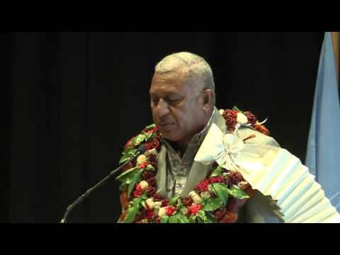 Fijian Prime Minister Voreqe Bainimarama officiates UN Special Committee on Decolonisation Meeting.