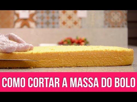 COMO CORTAR A MASSA DO BOLO - VEJA 3 MANEIRAS - Isamara Amâncio