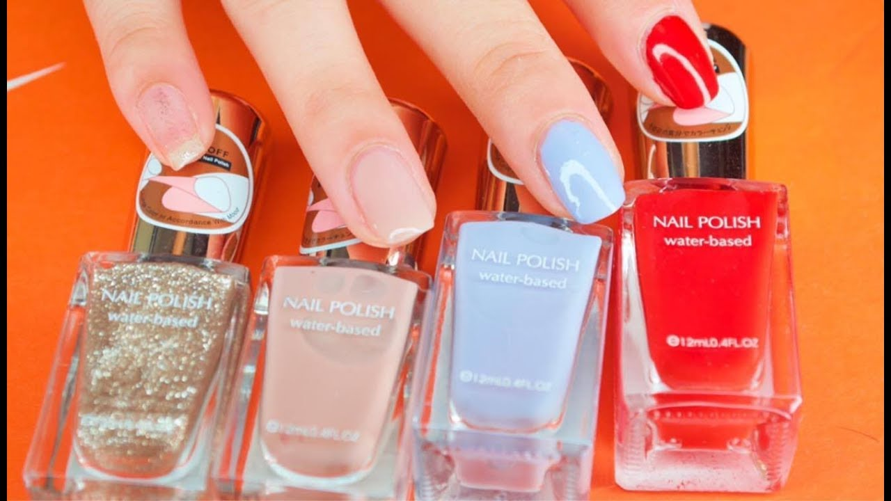Miniso Water Based Nail Polish Swatches Review Youtube