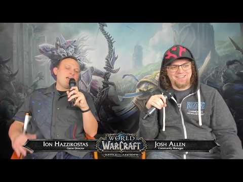 WoW Live Developer Q&A w/ Ion Hazzikostas 12/14/2018