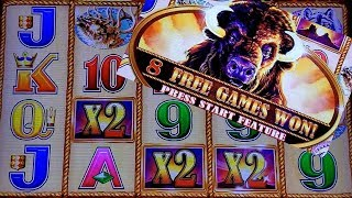Buffalo Gold Slot Machine Bonus ☆BIG WIN☆ w/ x2x2x2 MULTIPLIERS  | Slot Machine Pokies w/NG Slot