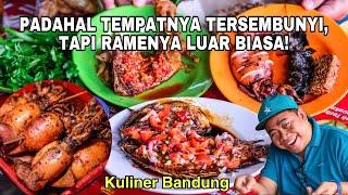 WARUNG SUNDA LOKASI NYEMPIL TAPI RAMAI SEKALI   WARUNG INUL DAGO #kulinerbandung