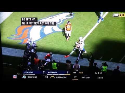 Bennie Fowler #16 injury Denver Broncos