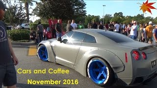 Cars leaving Houston Cars and Coffee / November 2016